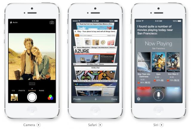 iOS 7 camera Safari Siri