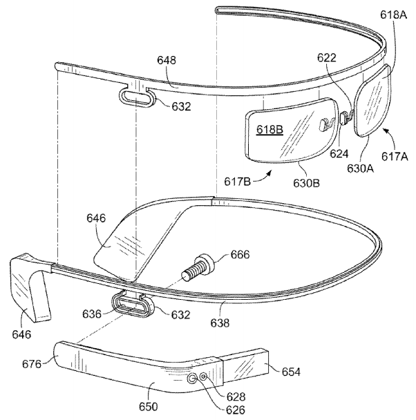 Google Glass patent shows more fashionable designs