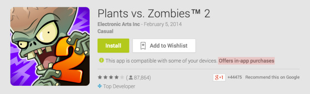 Google Play Now Tells When An App Utilizes Inapp Purchases