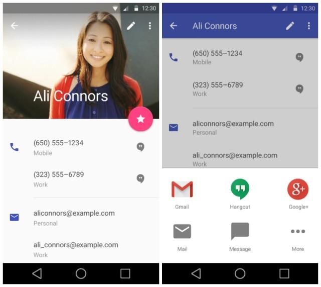 Google IO - Android L contactos