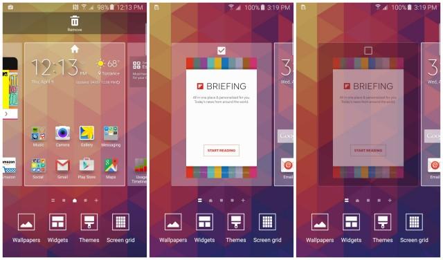 Samsung Galaxy S6 rimozione schermo Flipboard