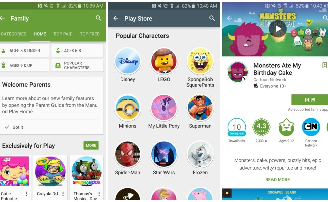 Google Play Family Now Live In The Play Store