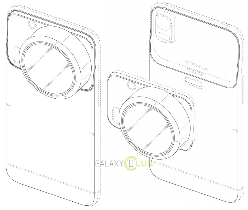 Samsung patents phones with interchangeable camera modules