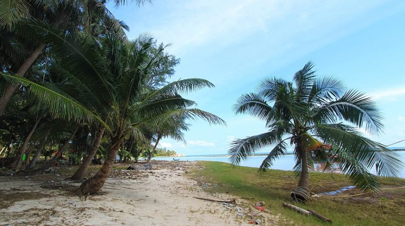 Chaloklam beach land for sale looking along beach