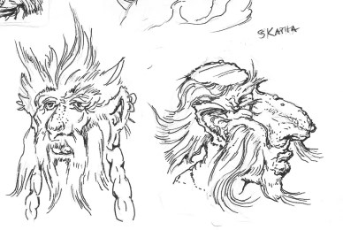 Illustrations of Giants in the Phantammeron