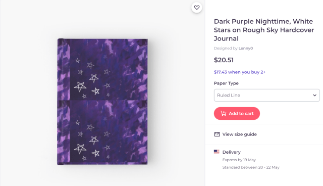 Dark painted night sky with purple highlights and white stars