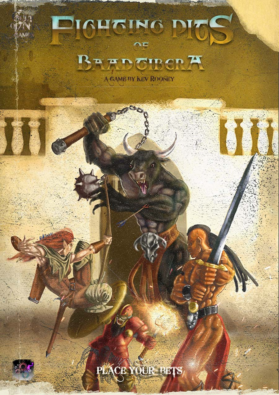 Cover image of the Fighting Pits Rulebook