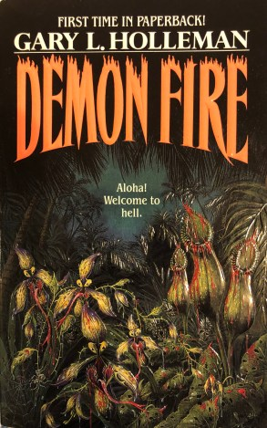 The front cover of the horror novel Demon Fire