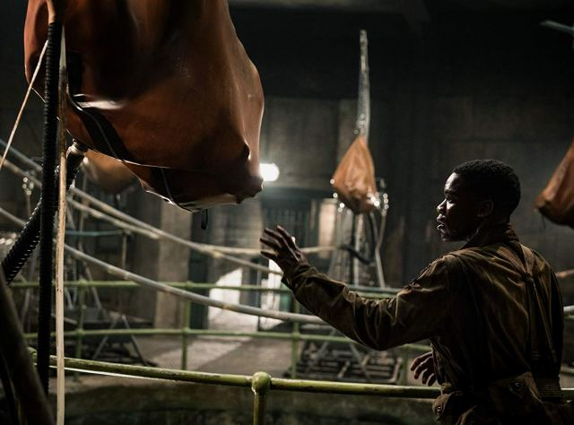 Private First Class Edward Boyce (Jovan Adepo) uncovers evil Nazi experiments in Overlord.