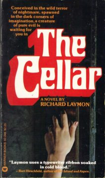 """Alternative cover design for """"The Cellar,"""" featuring a hand turning a door knob."""