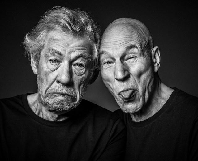 Ian McKellen and Patrick Stewart