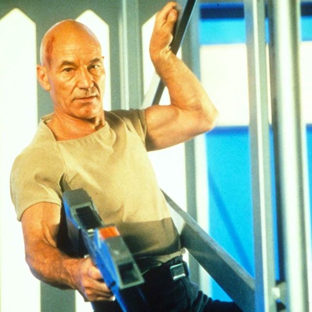 Patrick Stewart as Captain Jean Luc Picard in Star Trek: First Contact