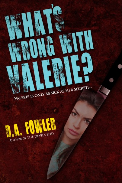 "Alternate cover for Thrift Store Find ""What's Wrong with Valerie?"" featuring a butcher knife with a woman's reflection."