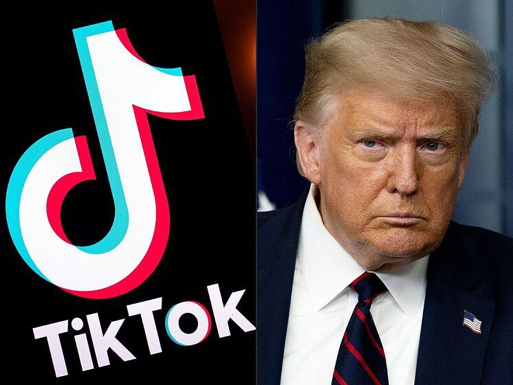 Tik Tok logo Donald Trump.