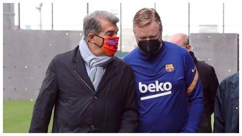 FC Barcelona - La Liga: Laporta meets with Koeman and the players   Marca