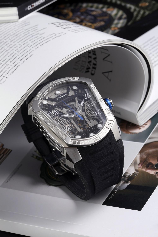_RET6283Gun Blade Futuristic Mechanical Skeleton Watch