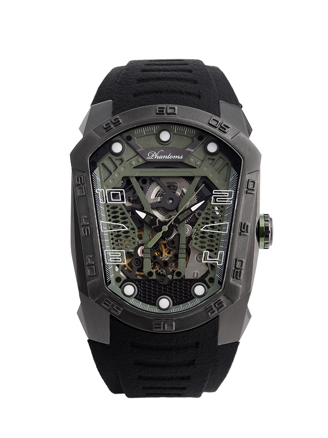 Phantoms Fight Blade Series Automatic Mechanical Watch Dark Green