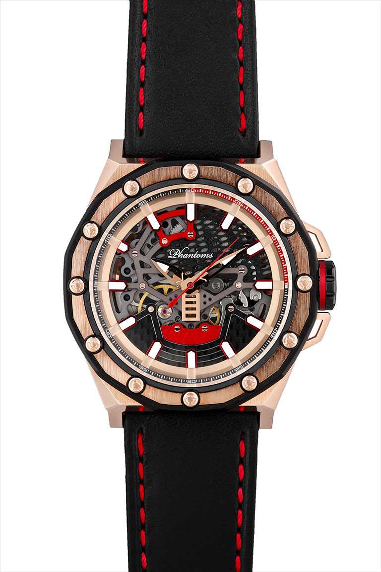 PHTW503-01 phantoms necromancer boneyard automatic skeleton watch