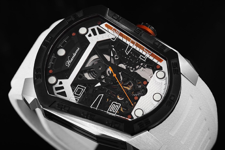 ghost blade mechanical watch white automatic watch phantoms tourbillon