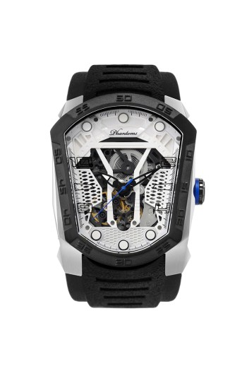 Hurricane Blade mechanical watch white automatic watch phantoms tourbillon White dial sports Watch Rubber Strap