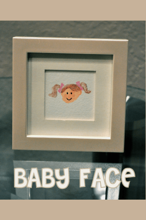 BABY FACE toe print art