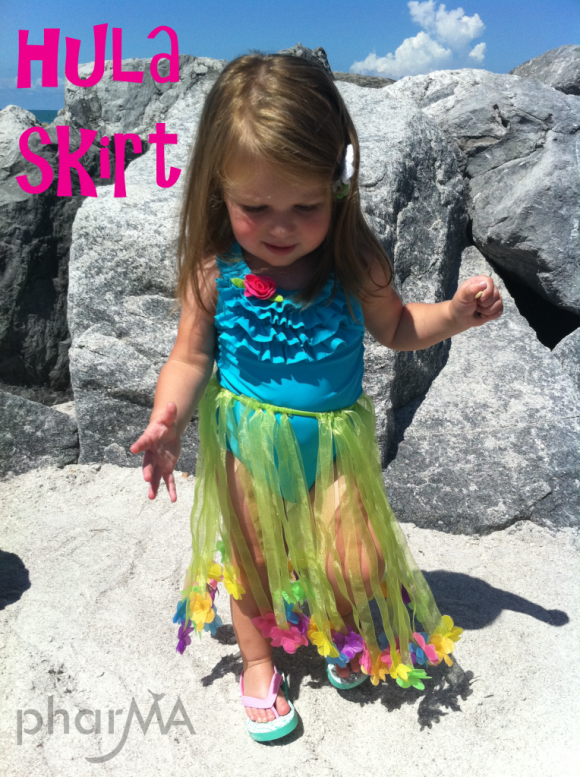 DIY Toddler Hula Skirt