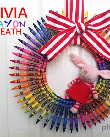 Olivia Crayon Wreath