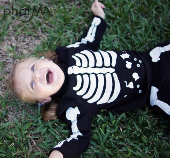 Kids Skeleton DIY Costume