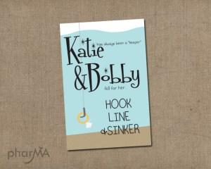 Hook Line & Sinker Invitation Couples Shower