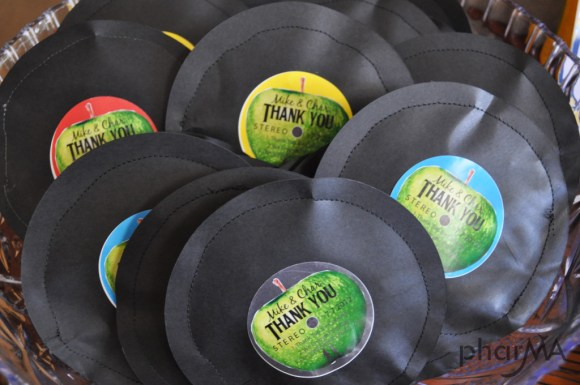 Paper Record Candy Pouch Party Favors