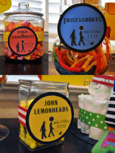 Yellow Submarine Candy Bar for The Beatles Baby Shower