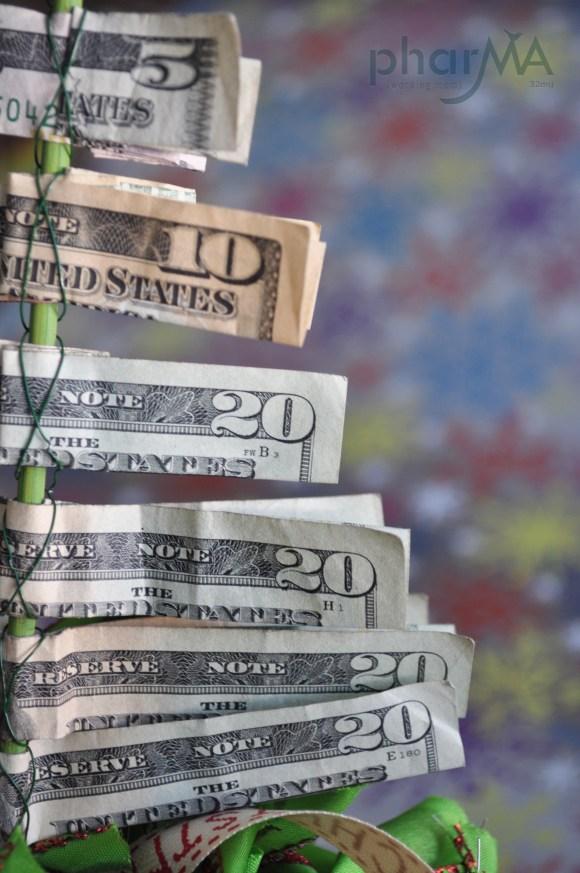 Money Tree, Christmas Tree Made of dollar bills