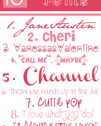 cute free Valentine's Day Fonts