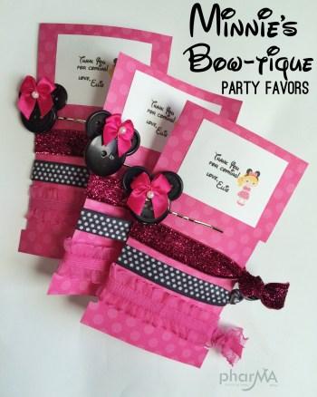 Minnie's Bowtique Party Favors