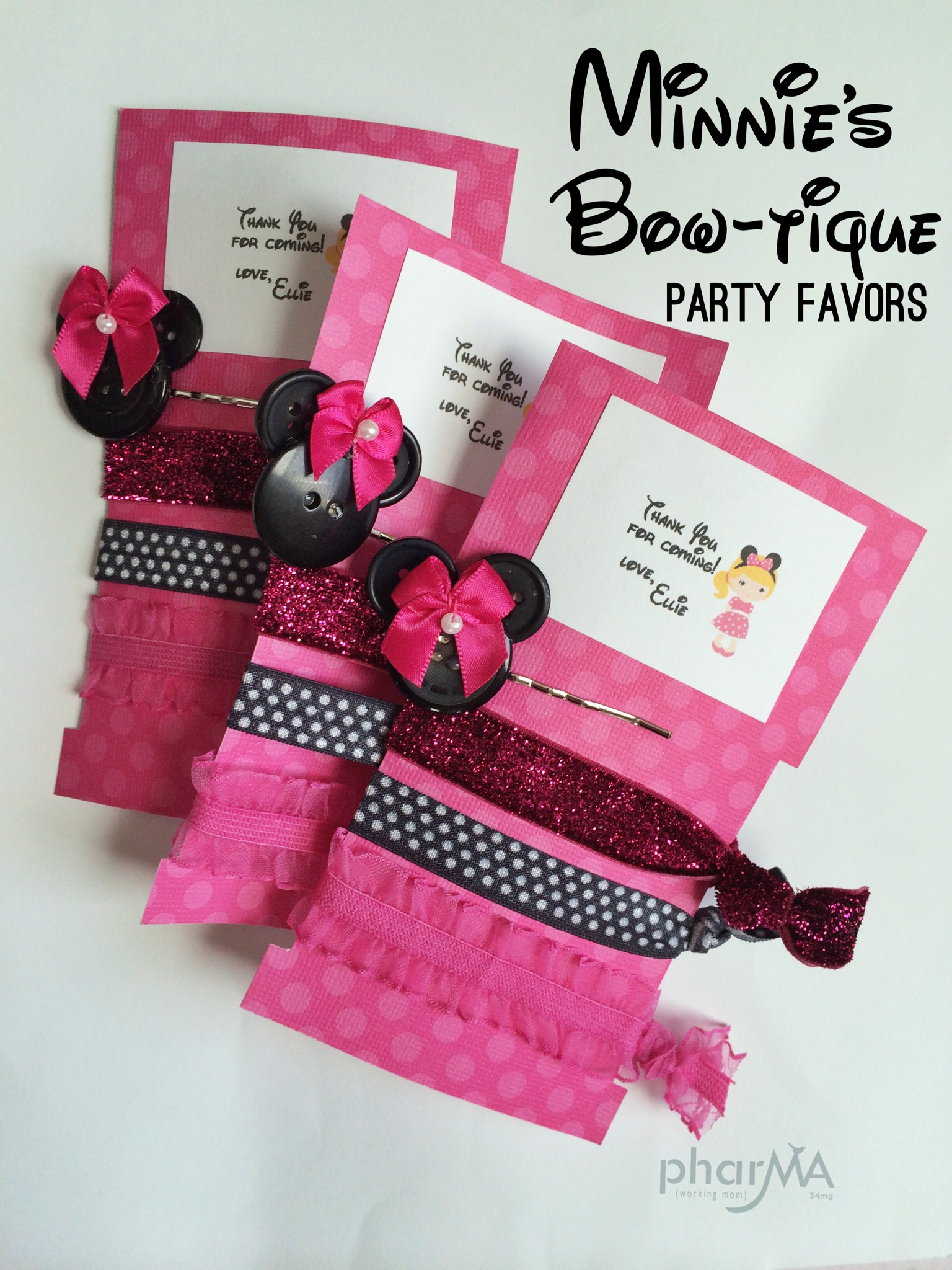 Minnie's Bow-tique Party Favors