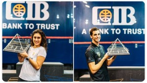 Finals night…. Nour and Ali are Champions.. and world No1!