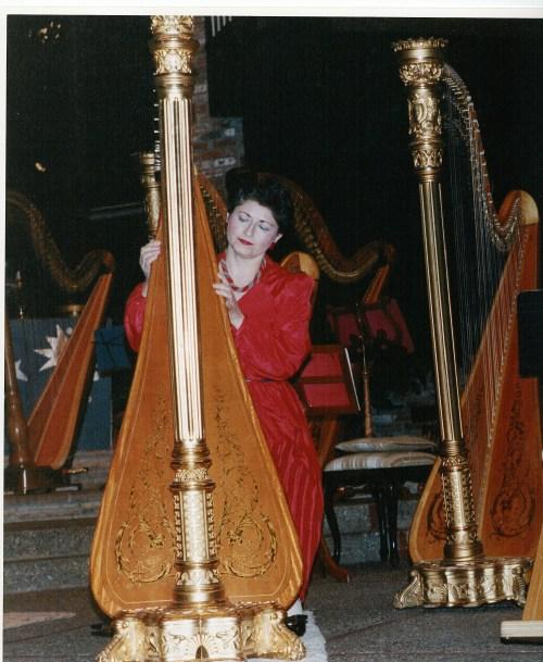 Aviva with the Harp