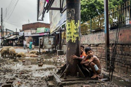 SANITATION-children defecate outside - 162 million malnourished and stunted
