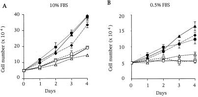 Differential growth rates of human breast cell lines.  pq0104939001