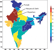 groundwater withdrawals as a percentage of groundwater recharge
