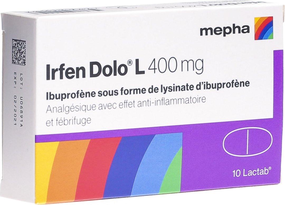boite de comprimé de Irfen Dolo L anti inflammatoire