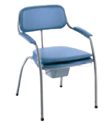 Chaise percée Omega bleue
