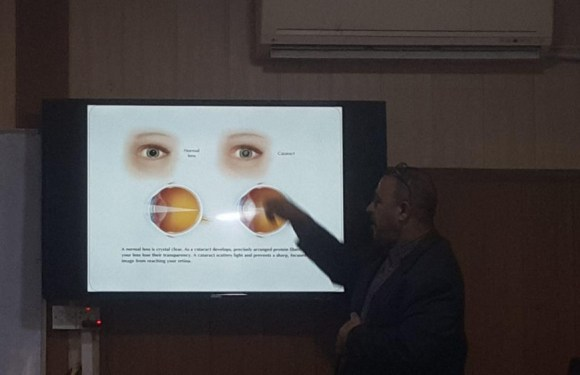 The role of antioxidant to protect eyes))حلقة نقاشية تقيمها  كلية الصيدلة