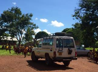 These are the SUV's that TASO takes to the field. They are needed to weather the rough roads.