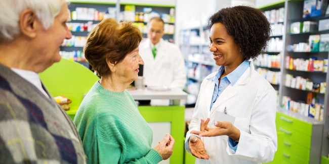 Pharmacist communicating