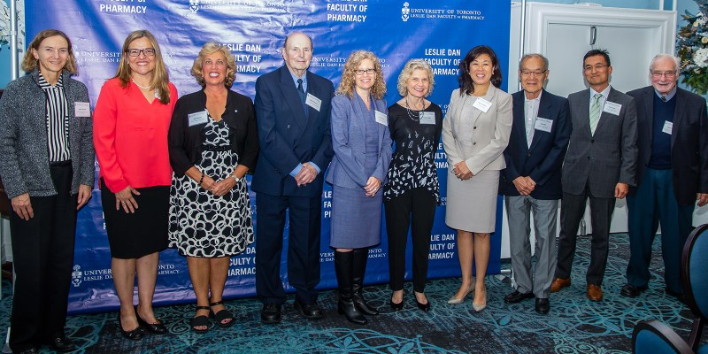 Nancy Lum-Wilson, CEO and Registrar of the Ontario College of Pharmacists (OCP), was among scholarship and bursary donors participating at a special Leslie Dan Faculty of Pharmacy, University of Toronto ceremony on September 24.
