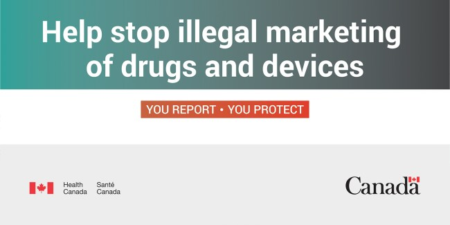 illegal marketing of drugs banner