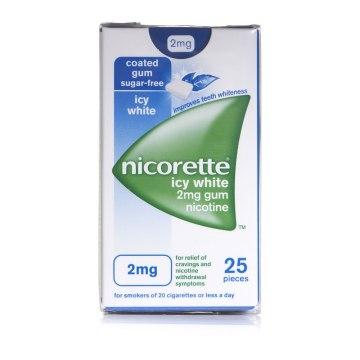 Nicorette Icy White 2mg Gum 25`s