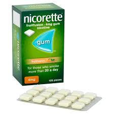 Nicorette Fruit Fusion 4mg Gum 105`s