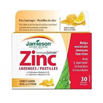 Jamieson Zinc Lozenges Honey Lemon 30`s